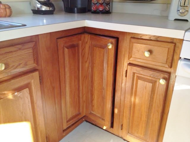 Brown Cabinets Before