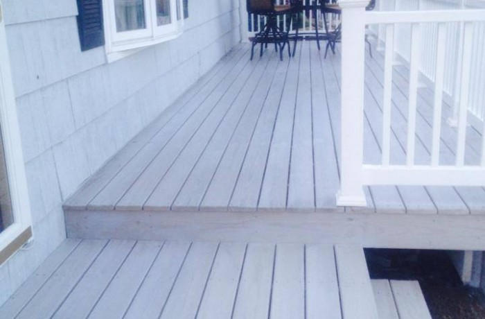 Deck w/ Light Gray Stain
