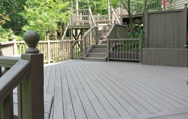 Large Deck Stained Gray