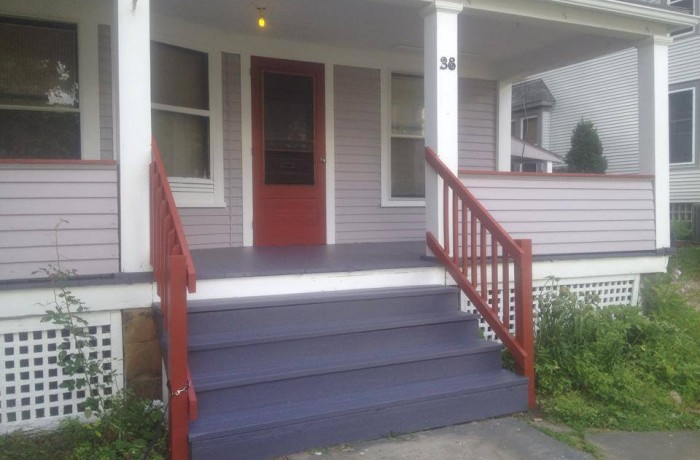 Painted Porch Floor & Steps